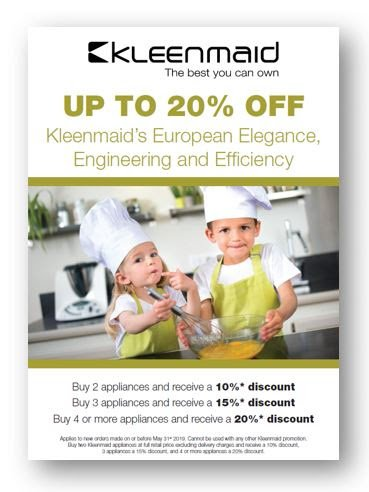 Kleenmaid Offer for March  2019