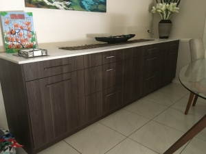 Custom designed and built buffet cabinetry