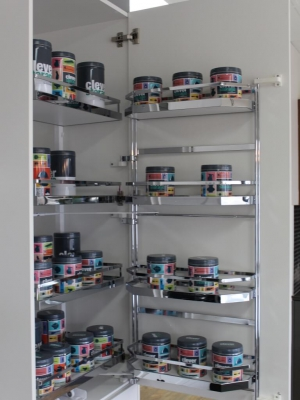 Innovative cupboard design and storage solutions